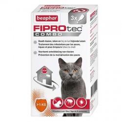 Pipettes antiparasitaires FIPROtec Combo de Béaphar pour chat et furet