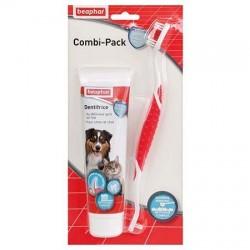 Pack dentifrice + brosse à dents Béaphar pour chien et chat