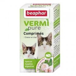 15806 -  VERMIPURE, comprimés purge spécial vers et hygiène digestive pour chaton et chat - 50 cps